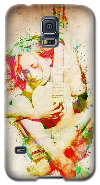 Music Galaxy S5 Cases - Guitar Lovers Embrace Galaxy S5 Case by Nikki Smith
