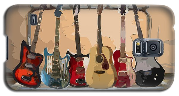 Guitars On A Rack Galaxy S5 Case by Arline Wagner