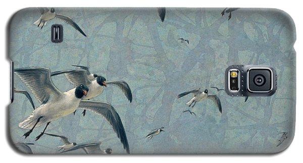 Animals Galaxy S5 Cases - Gulls Galaxy S5 Case by James W Johnson