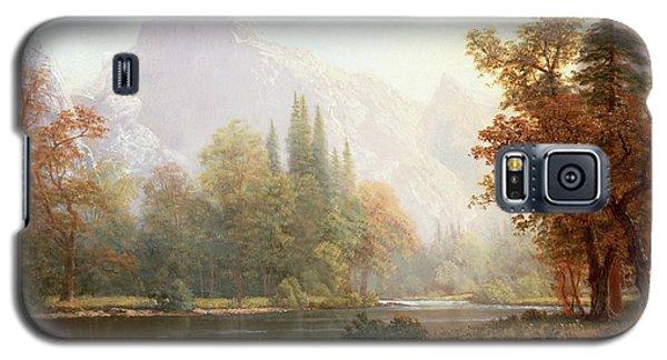 Half Dome Yosemite Galaxy S5 Case by Albert Bierstadt