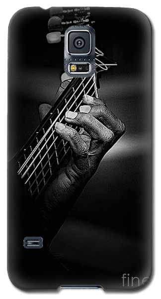 Hand Of A Guitarist In Monochrome Galaxy S5 Case by Avalon Fine Art Photography