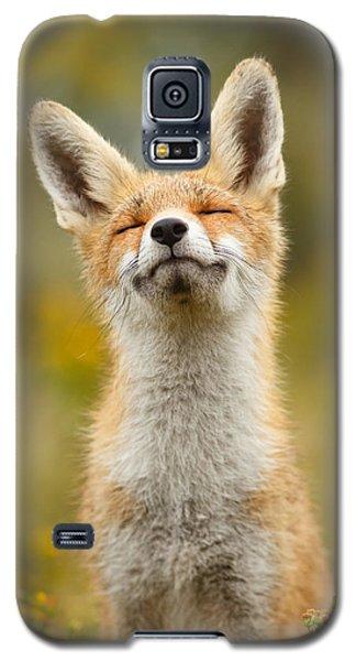 Happy Fox Galaxy S5 Case by Roeselien Raimond