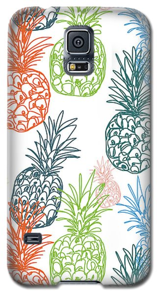 Happy Pineapple- Art By Linda Woods Galaxy S5 Case by Linda Woods
