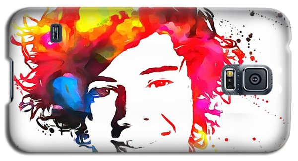 Harry Styles Paint Splatter Galaxy S5 Case by Dan Sproul