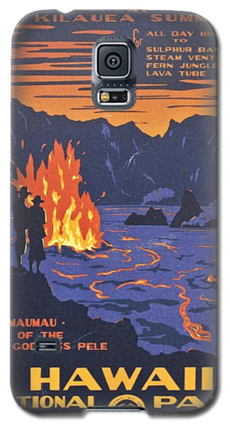 Hawaii Vintage Travel Poster Galaxy S5 Case by Georgia Fowler