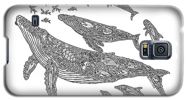 Hawaiian Humpbacks Galaxy S5 Case by Carol Lynne