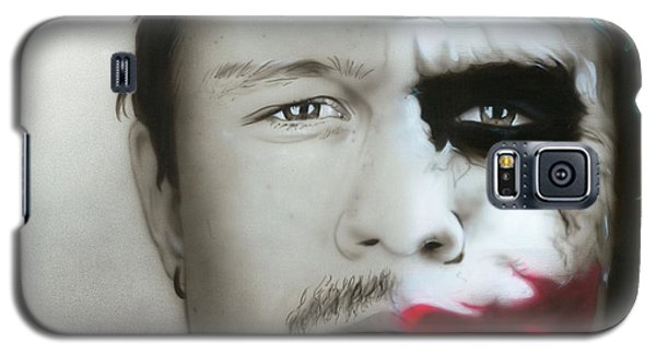 ' Heath Ledger / Joker ' Galaxy S5 Case by Christian Chapman Art