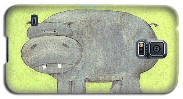 Herbert Hippo Nursery Art Galaxy S5 Case by Katie Carlsruh
