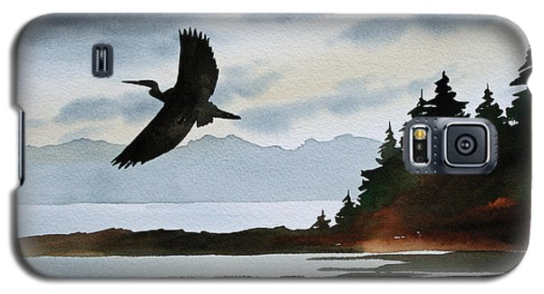 Heron Silhouette Galaxy S5 Case by James Williamson