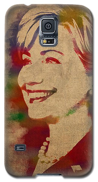 Hillary Rodham Clinton Watercolor Portrait Galaxy S5 Case by Design Turnpike