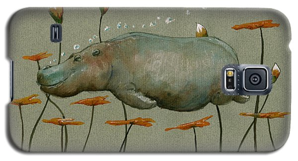 Hippo Underwater Galaxy S5 Case by Juan  Bosco