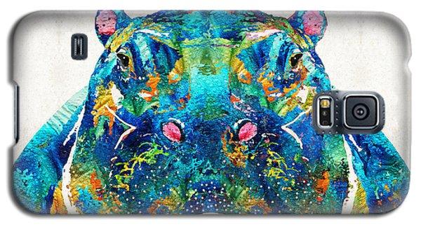 Hippopotamus Art - Happy Hippo - By Sharon Cummings Galaxy S5 Case by Sharon Cummings