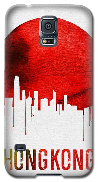 Hong Kong Skyline Red Galaxy S5 Case by Naxart Studio