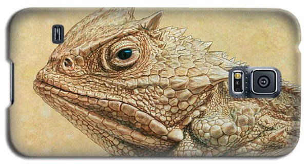 Animals Galaxy S5 Cases - Horned Toad Galaxy S5 Case by James W Johnson