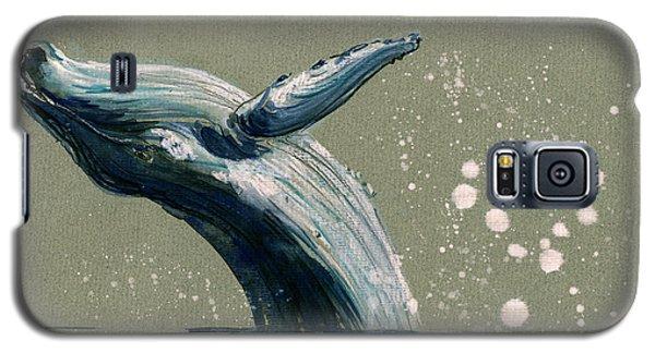 Humpback Whale Swimming Galaxy S5 Case by Juan  Bosco