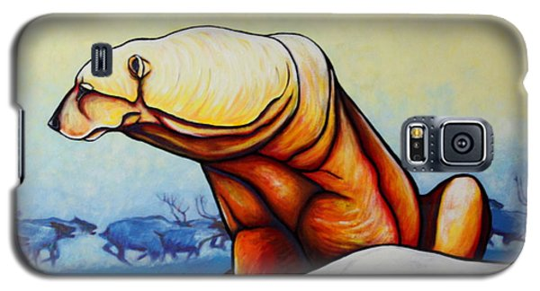 Hunger Burns - Polar Bear And Caribou Galaxy S5 Case by Joe  Triano