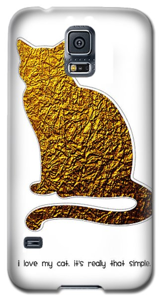 I Love My Cat Galaxy S5 Case by Shivonne Ross