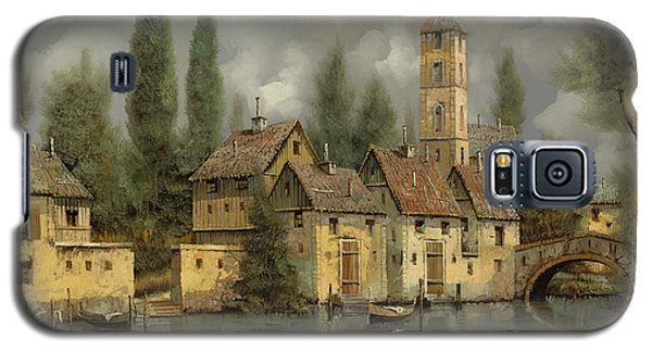 Landscapes Galaxy S5 Cases - Il Borgo Sul Fiume Galaxy S5 Case by Guido Borelli