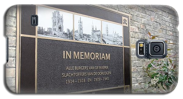 Galaxy S5 Case featuring the photograph In Memoriam - Ypres by Travel Pics