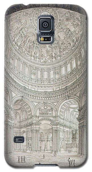 Interior Of Saint Pauls Cathedral Galaxy S5 Case by John Coney