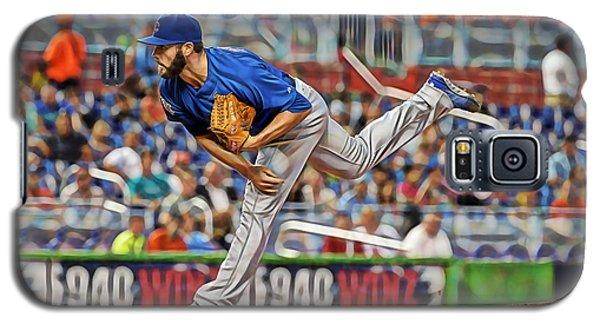 Jake Arrieta Chicago Cubs Pitcher Galaxy S5 Case by Marvin Blaine