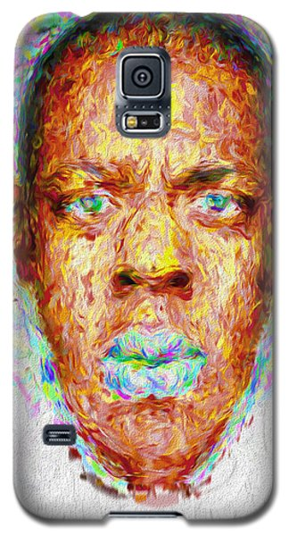 Jay Z Painted Digitally 2 Galaxy S5 Case by David Haskett