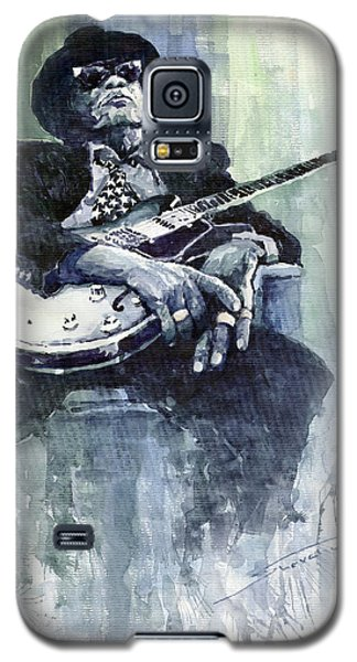 Jazz Bluesman John Lee Hooker 04 Galaxy S5 Case by Yuriy  Shevchuk