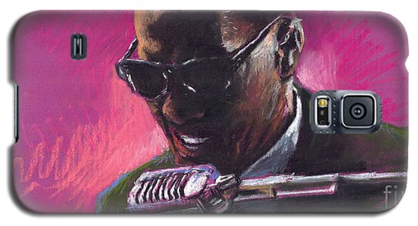 Drawings Galaxy S5 Cases - Jazz. Ray Charles.1. Galaxy S5 Case by Yuriy  Shevchuk