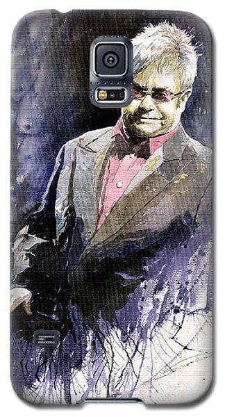 Jazz Sir Elton John Galaxy S5 Case by Yuriy  Shevchuk