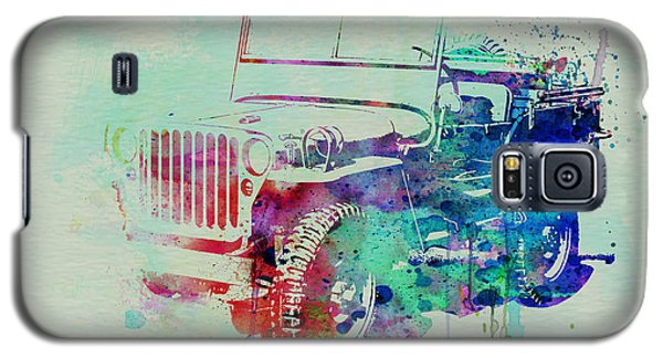 Drawings Galaxy S5 Cases - Jeep Willis Galaxy S5 Case by Naxart Studio