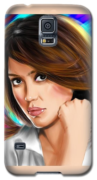 Jessica Alba Galaxy S5 Case by Isaac Martinez