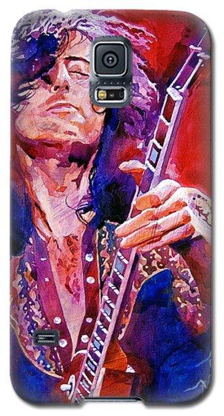 Jimmy Page Galaxy S5 Case by David Lloyd Glover