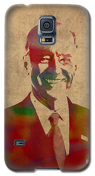 Joe Biden Watercolor Portrait Galaxy S5 Case by Design Turnpike