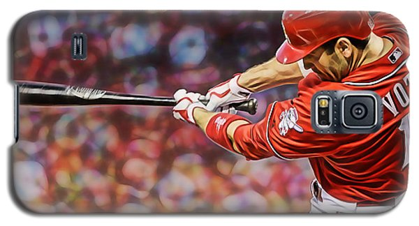 Joey Votto Baseball Galaxy S5 Case by Marvin Blaine