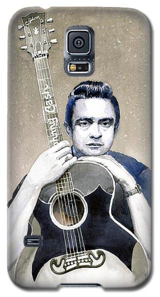 Johnny Cash Galaxy S5 Case by Yuriy  Shevchuk