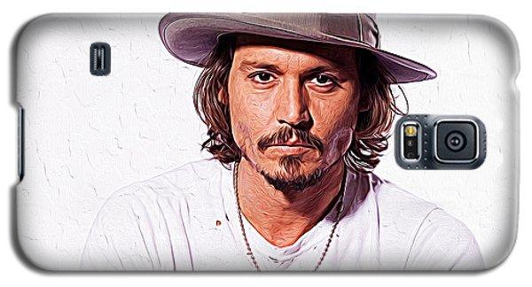 Johnny Depp Galaxy S5 Case by Iguanna Espinosa