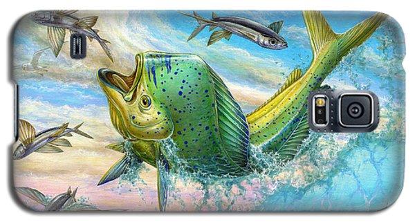 Jumping Mahi Mahi And Flyingfish Galaxy S5 Case by Terry Fox
