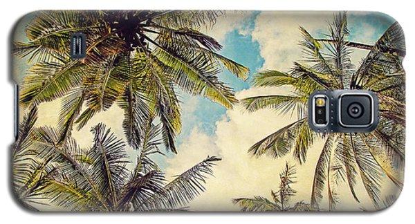 Kauai Island Palms - Blue Hawaii Photography Galaxy S5 Case by Melanie Alexandra Price