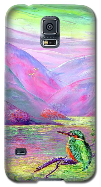 Kingfisher, Shimmering Streams Galaxy S5 Case by Jane Small