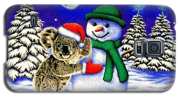Koala With Snowman Galaxy S5 Case by Remrov