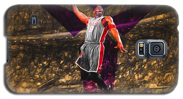 Kobe Bryant Black Mamba Digital Painting Galaxy S5 Case by David Haskett