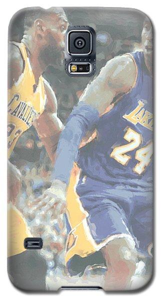 Kobe Bryant Lebron James 2 Galaxy S5 Case by Joe Hamilton