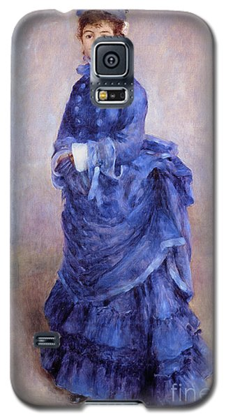 Blue Galaxy S5 Cases - La Parisienne The Blue Lady  Galaxy S5 Case by Pierre Auguste Renoir