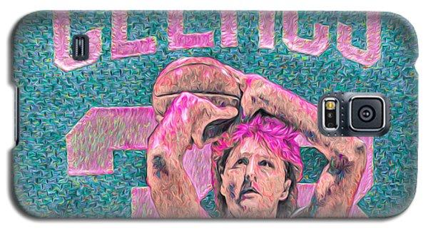 Larry Bird Boston Celtics Digital Painting Pink Galaxy S5 Case by David Haskett