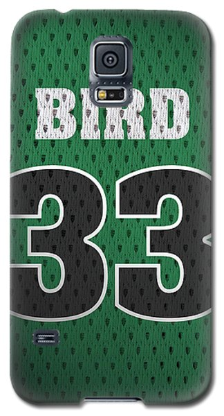 Larry Bird Boston Celtics Retro Vintage Jersey Closeup Graphic Design Galaxy S5 Case by Design Turnpike