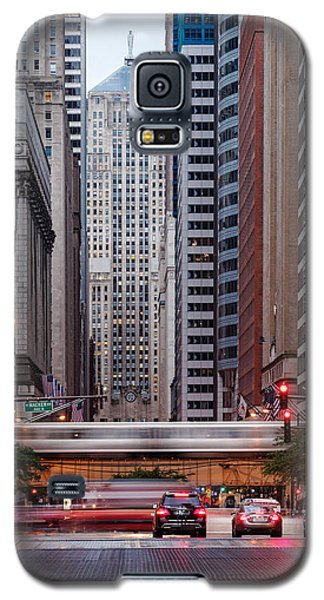 Lasalle Street Canyon With Chicago Board Of Trade Building At The South Side II - Chicago Illinois Galaxy S5 Case by Silvio Ligutti