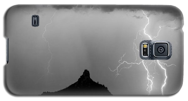 Lightning Thunderstorm At Pinnacle Peak Bw Galaxy S5 Case by James BO  Insogna