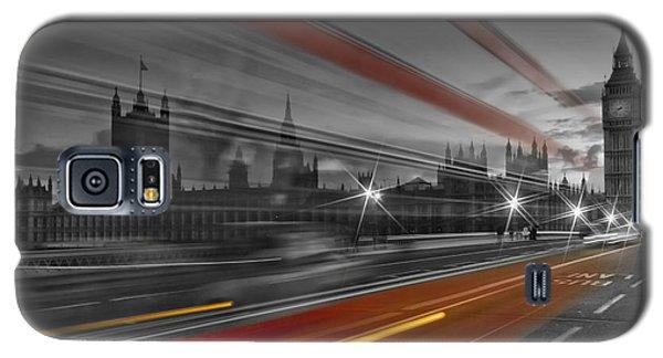 London Red Bus Galaxy S5 Case by Melanie Viola