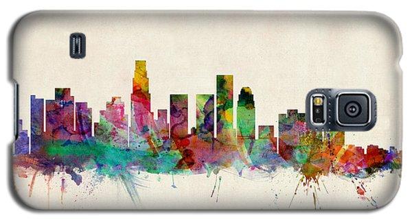 Los Angeles California Skyline Signed Galaxy S5 Case by Michael Tompsett