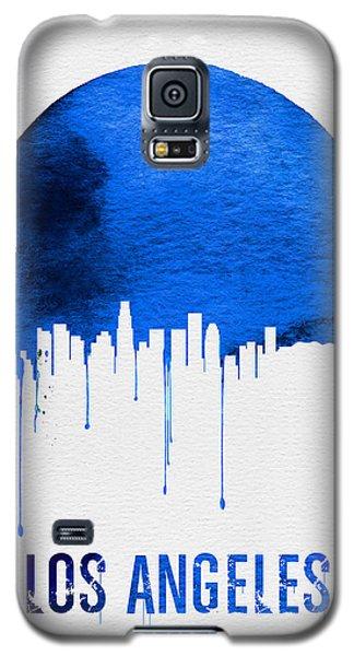 Los Angeles Skyline Blue Galaxy S5 Case by Naxart Studio
